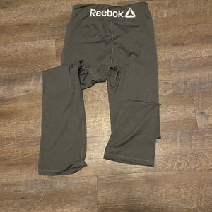 Gray Reebok Waistband Straight Leg Athletic Pants